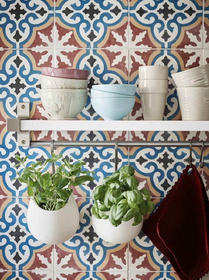 orientální obklady barevné dekorované cementové