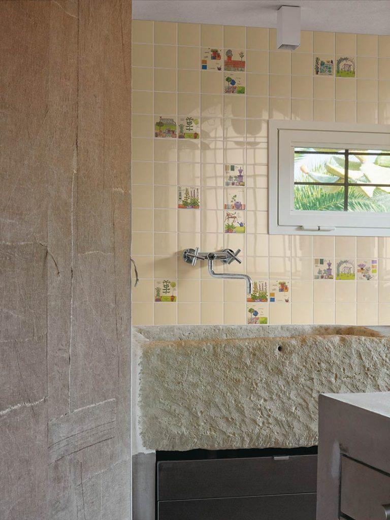 obklady do koupelny selská retro