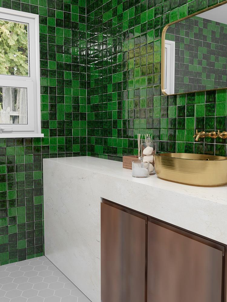 retro obklady do koupelny zelené 10x10