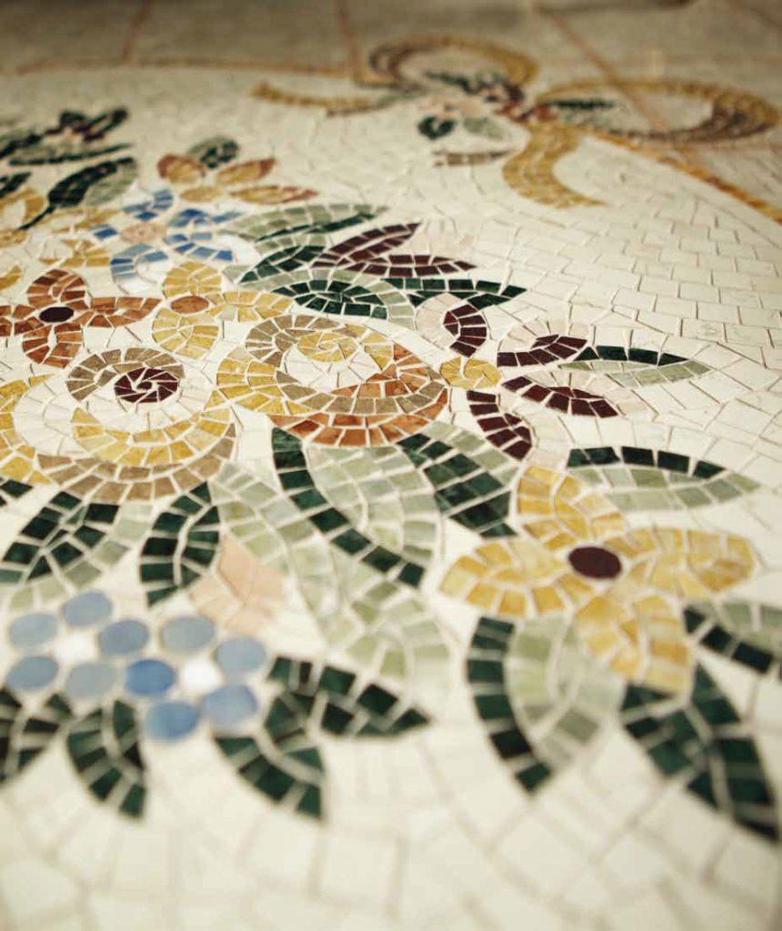 mozaika na zem nepravidelná