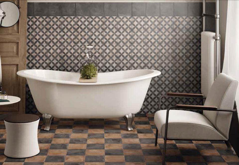 retro obklady do koupelny dekory