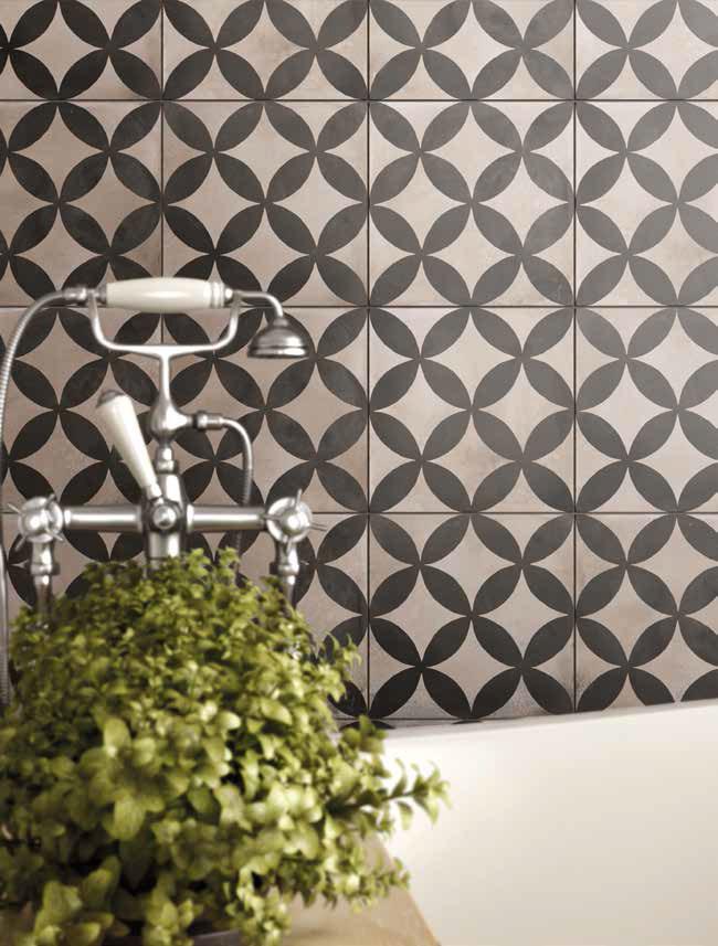 retro obklady do koupelny inspirace za vanu