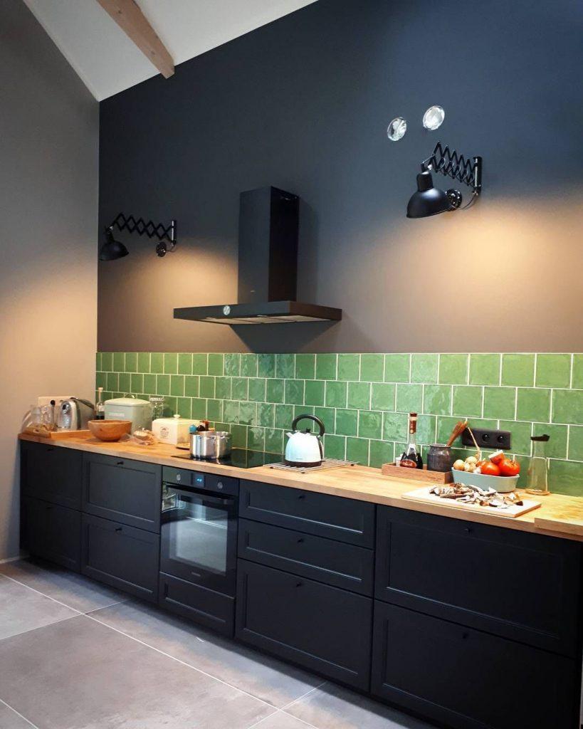 obklady do kuchyně zelené 15x15 retro