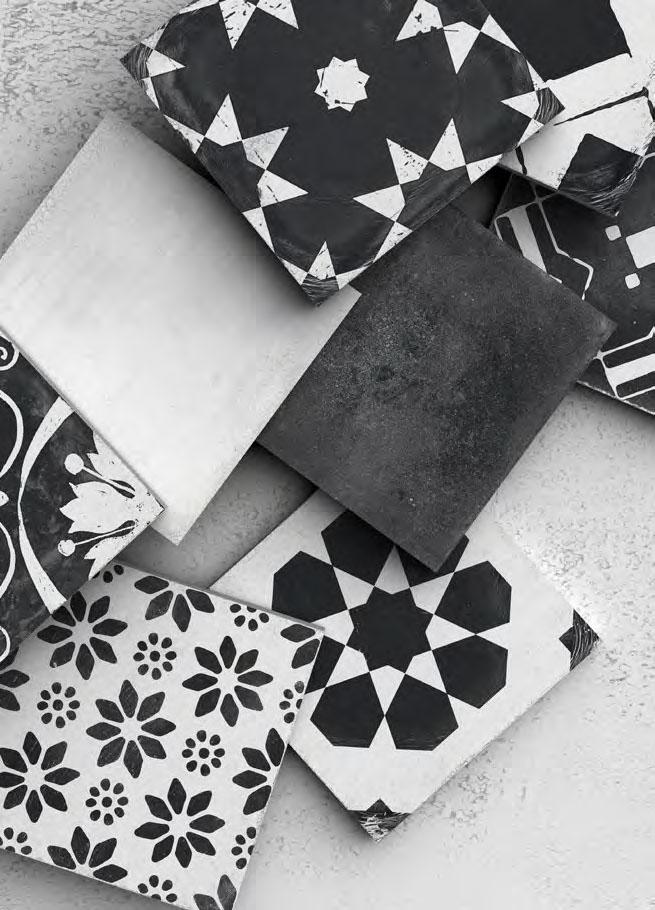 obklady dekory černobílé retro