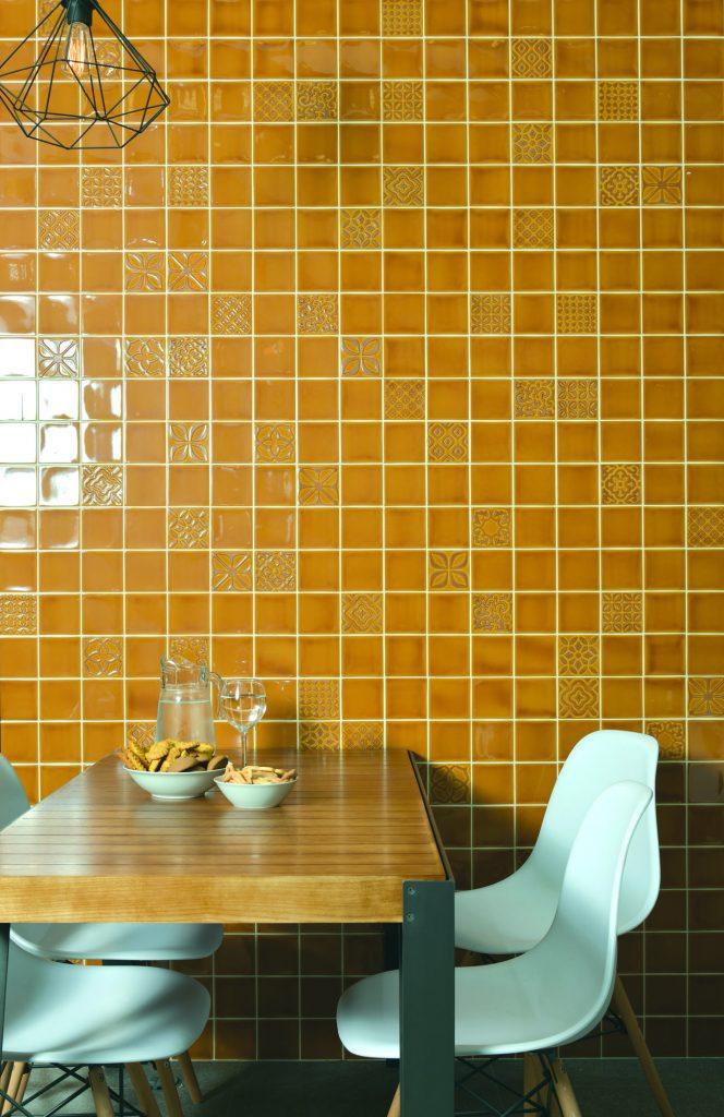 obklady žluté kuchyně