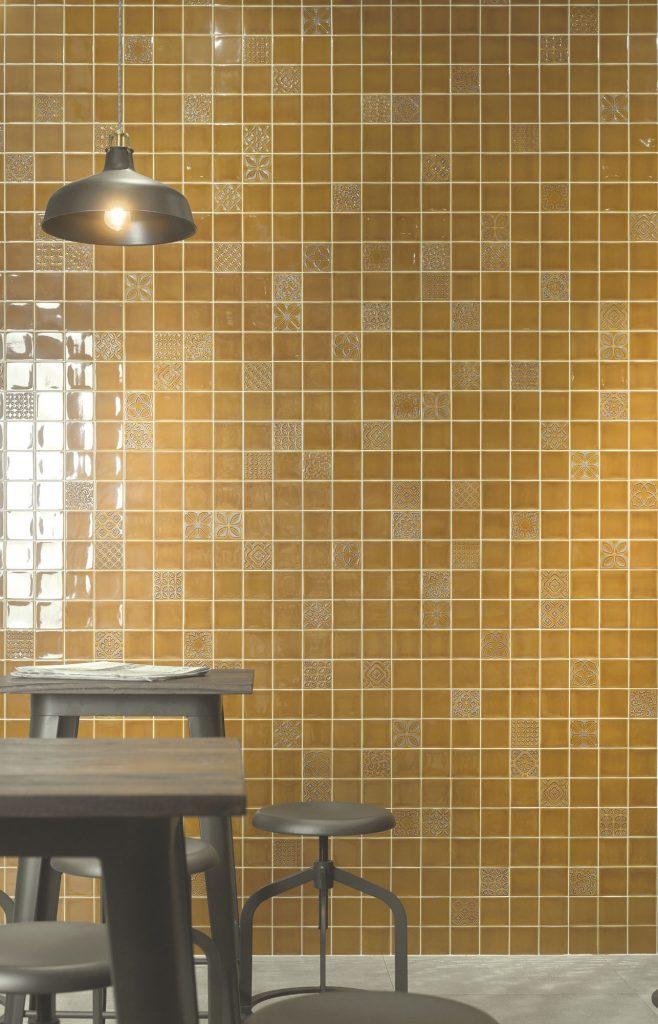 obklady žluté 10x10 cm