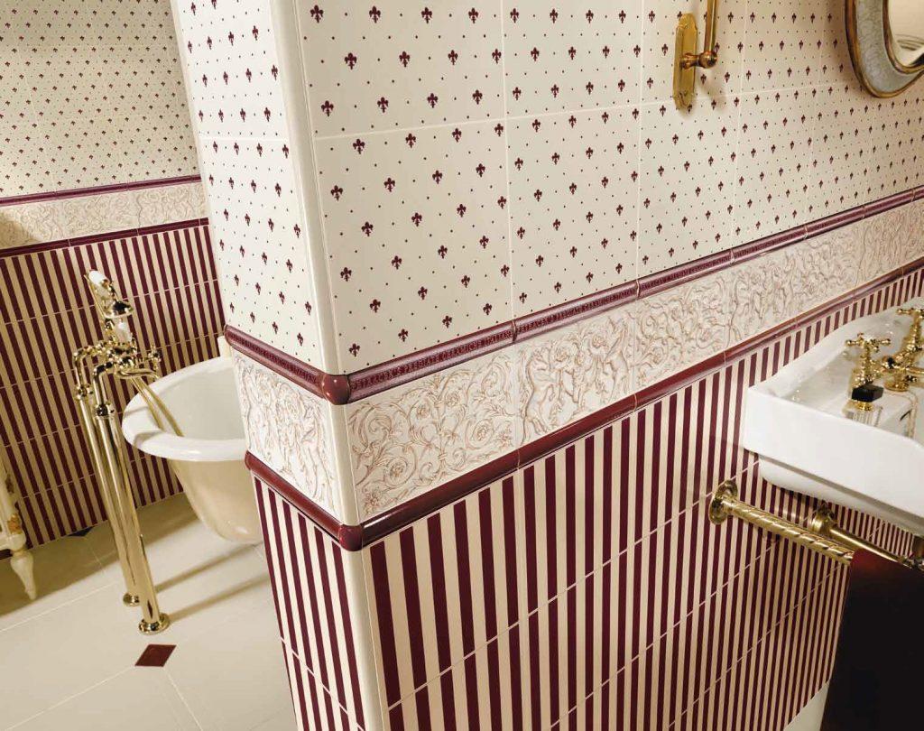 obklady do koupelny retro vana zámek