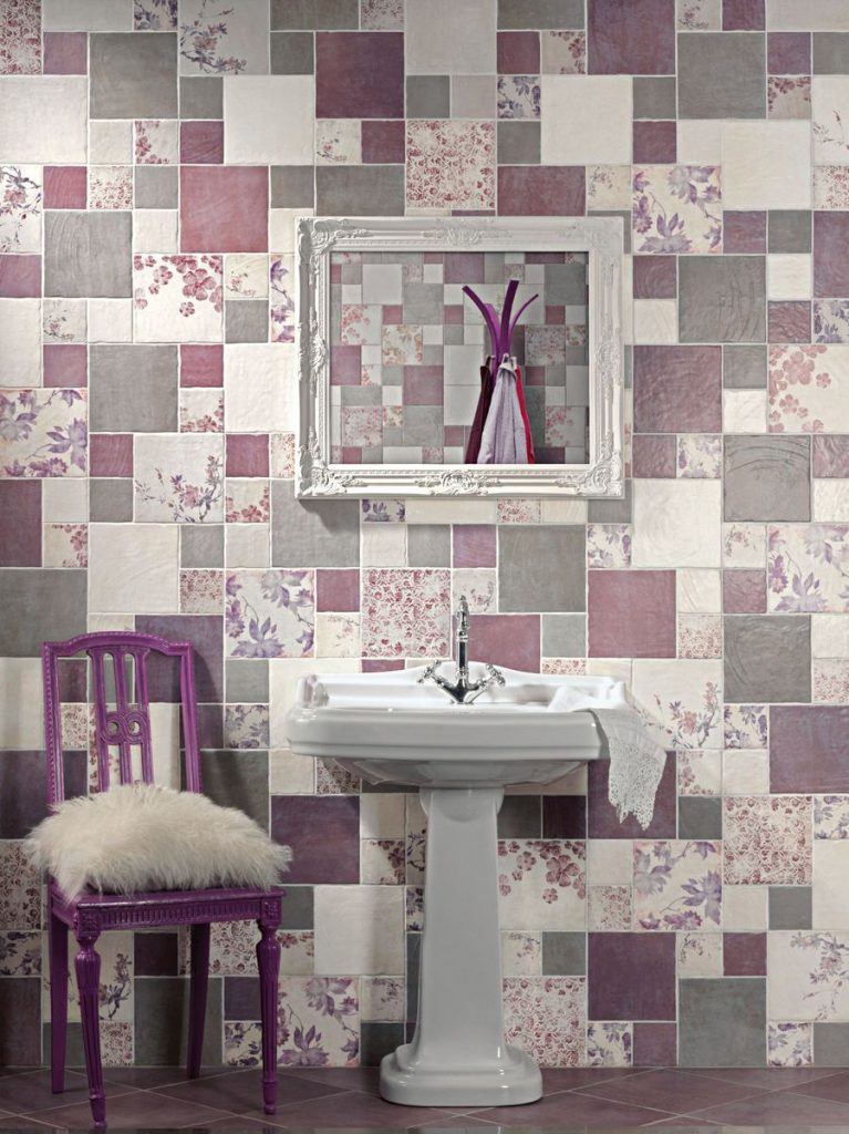 obklady romantické vintage koupelny kuchyně 20x20 10x10
