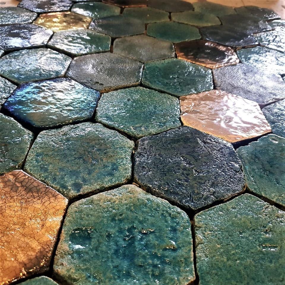 obklady hexagony malovaná terakota cotto etrusco