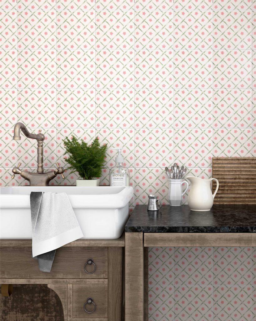 obklady do kuchyně květy dekory malované 20x20 cm