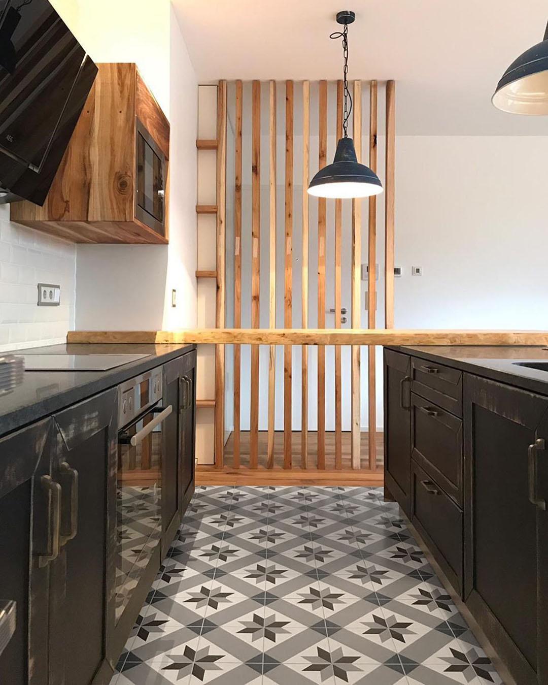 dlažba do kuchyně odolná dekory retro 20x20