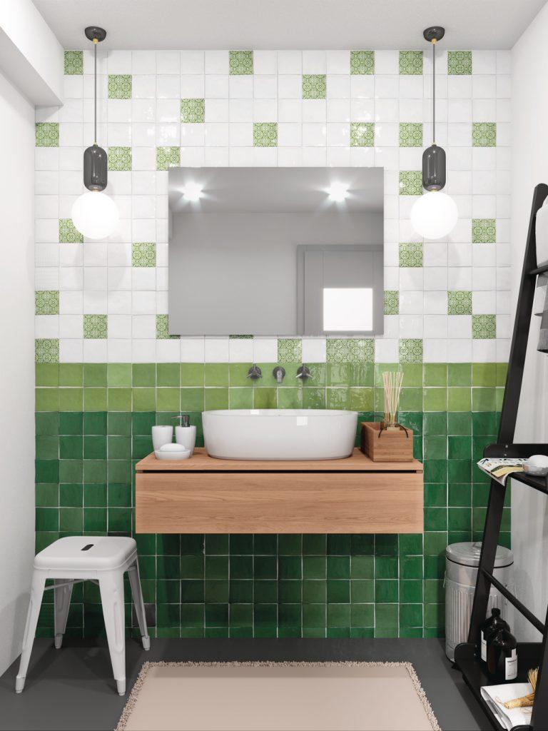cevica zelij obklady 10x10 jednobarevné koupelna