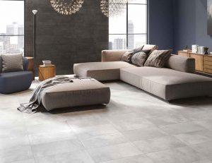 dlažba industriální velkoformátová beton obývák