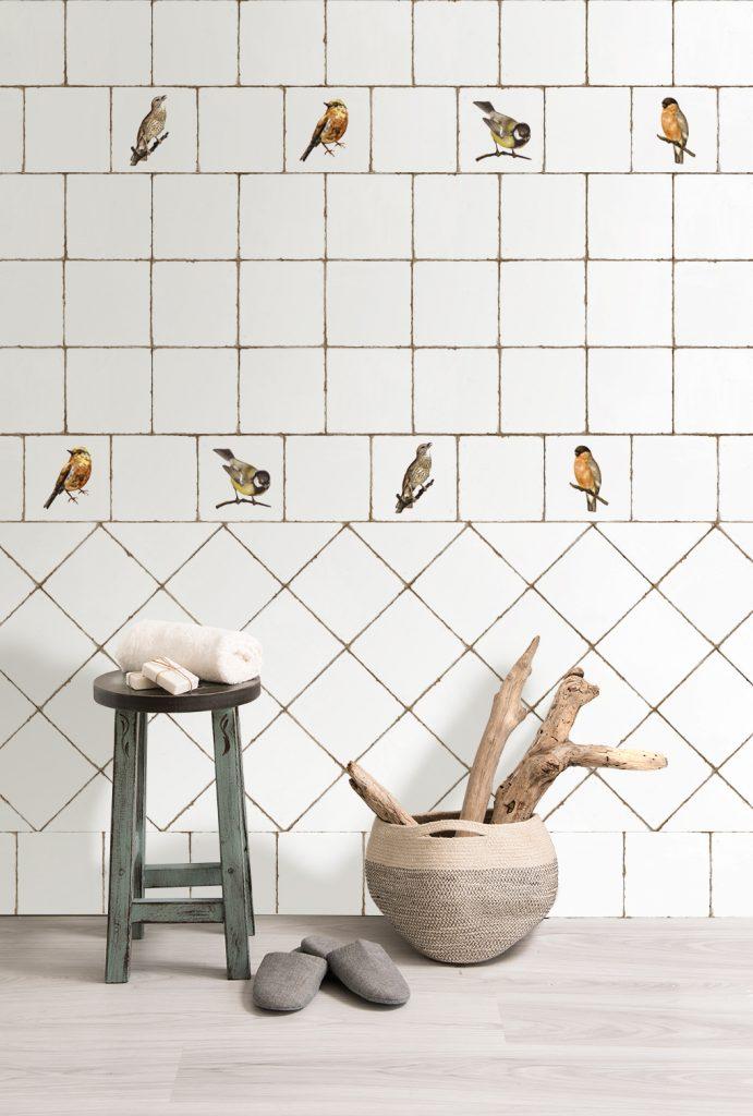 obklady do kuchyně, koupelny květiny, ptáčci
