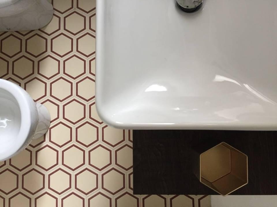 obklady dlažba matné retro hexagon šestiúhelník barevné jednobarevné dekory vzory